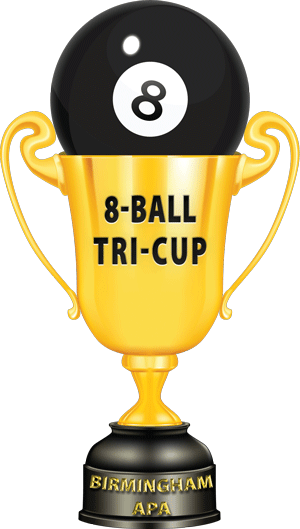 8-Ball Tri-Cup Trophy