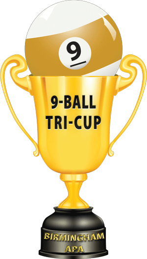 9-Ball Tri-Cup Trophy